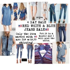 🇺🇸 4 DAY SALE RED WHITE & BLUE JEANS🇺🇸